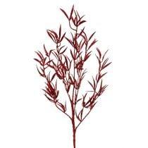 Dekorativ gren rød med glimmer 69 cm 2stk