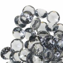 Dekorative sten diamant akrylgrå Ø1,2 cm 175g smykkedekoration