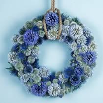 Floral skumring grøn Ø25cm 4stk krans arrangement