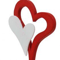 Dekorativ stik dobbelt hjerte 28cm 18stk