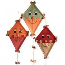 Dekorativ drage til at hænge op Efterårsdekoration jute assorteret 40 × 55cm 3stk