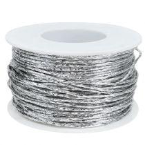 Tråd indpakket i sølv Ø2mm 100m