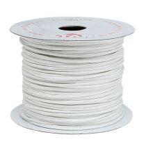 Tråd indpakket 50 m hvid