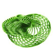 Trådhjul æblegrøn Ø4.5cm 6stk