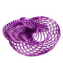 Trådhjul lavendel Ø4,5 cm 6stk