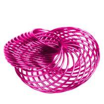 Trådhjul Pink Ø4.5cm 6stk