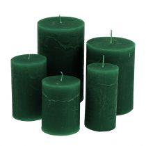 Farvede lys mørkegrøn i forskellige størrelser