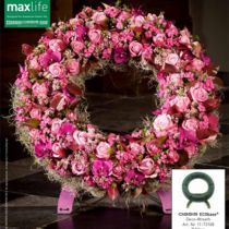Blomster skumkrans med stativ Ø50cm