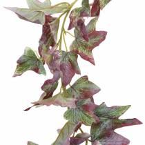 Ivy kransegrøn, bordeaux 182,5 cm