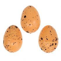 Æg lavet af styrofoam orange 3,5 cm 24stk