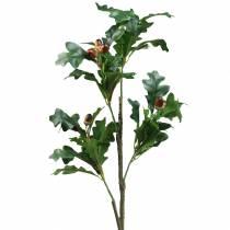Egebladgren med kunstige acorns 90 cm