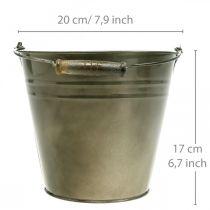 Metalkrukke, spand til plantning, planter Ø20cm H17cm