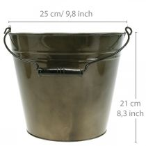 Metal spand, plantepotte, metalbeholder Ø25cm H21cm