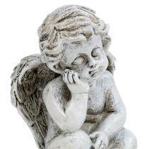 Engel sidder grå 11 cm 4stk