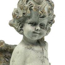 Dekorativ engel Cupido med hjerte 25cm 2stk