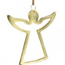 Metal vedhæng, dekorative engle, gylden advent dekoration 15 × 16,5 cm