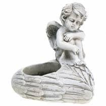 Grave smykker telysholder engel 10cm 2stk