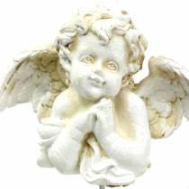 Gravedekoration dekorative stik engel, der beder 5 cm 4stk