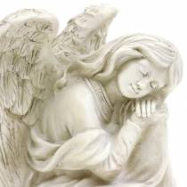 Dekorativ engel sidder 19 cm x 13,5 cm H15cm
