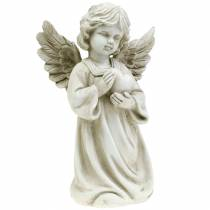 Dekorativ engel med hjerte H25cm