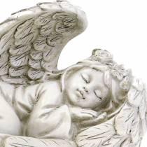 Dekorativ engel, der sover 18 cm x 8 cm x 10 cm