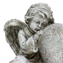 Engel med hjertegrå 11,5cm × 9cm × 6,5 cm 2stk