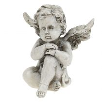 Engelfigurer grå 9 cm 3stk