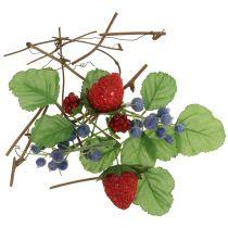 Håndværk sæt bær, dekorative grene og blade