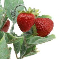 Kunstig jordbærpluk rød L30cm