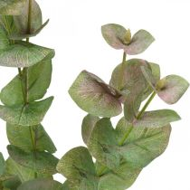 Kunstig eucalyptus gren deco grøn plante grøn, lyserød 75cm