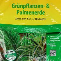FRUX grøn plante og palmejord 5l