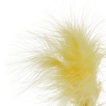 Fjer på stangen L 30cm gul 12stk