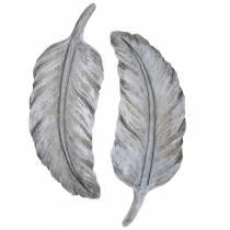 Grave smykker fjer 18cm x 6,5 cm 4stk