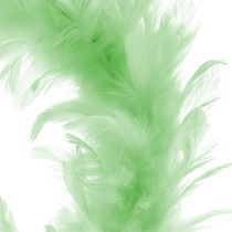 Fjerring lysegrøn Ø15cm 4stk