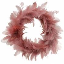 Påskedekoration forårskrans gammel rose Ø18cm forårsdekoration