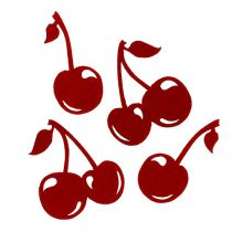 Filt kirsebærrød 32p