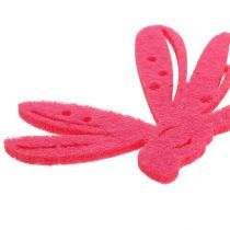 Filt scatter dekoration lyserød 24stk