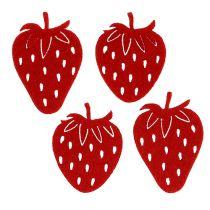 Filt jordbær røde 32stk