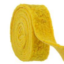 """Filtbånd """"Glad"""" gul 7,5 cm 5m"""