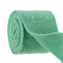 Mint filtbånd med prikker 15 cm 5m