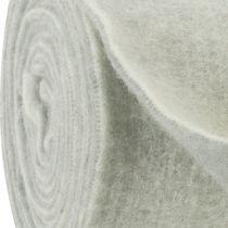 Filtbånd 15cm x 5m tofarvet grå, hvid