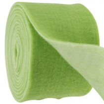 Filtbånd 15cm x 5m tofarvet grøn, hvid