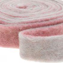 Pottehængsel, deco tape uldfilt mørk pink / grå B4,5cm L5m