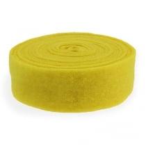 Filt bånd gul 7,5 cm 5m