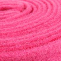 Filt bånd lyserød 7,5 cm 5m