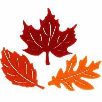 Sprededekoration efterårs filtark rød, orange 3,5 cm 36p