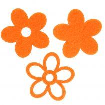 Filtblomst 4 cm orange 72stk