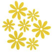 Filtblomst i gul 96stk
