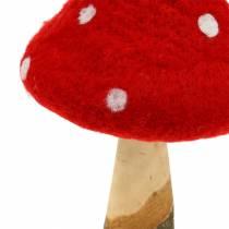 Toadstool efterårsdekoration rød H27cm