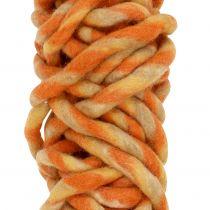 Filt ledning 25m orange, gul, brun